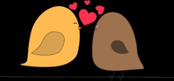Valentine Love Birds Clip Art