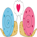 Valentine Snail Love
