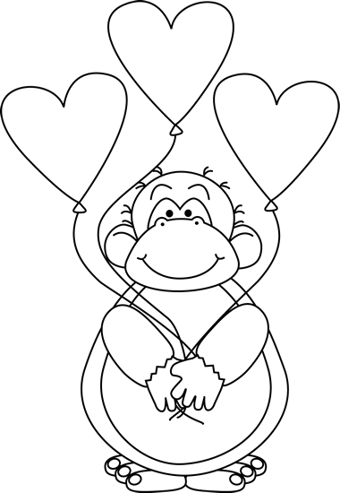 Black and White Valentine's Day Ape