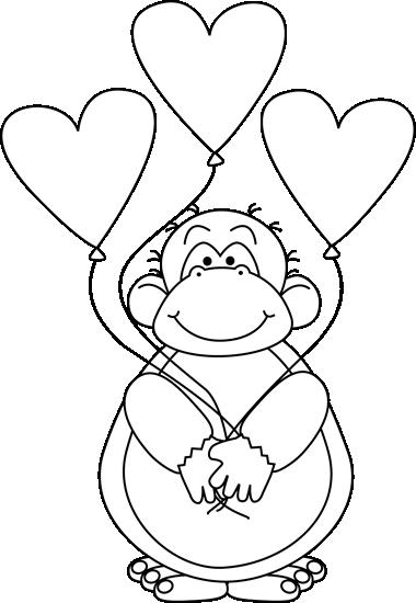 Black and White Valentine's Day Ape