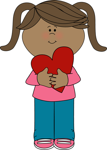 Girl with Valentine Heart