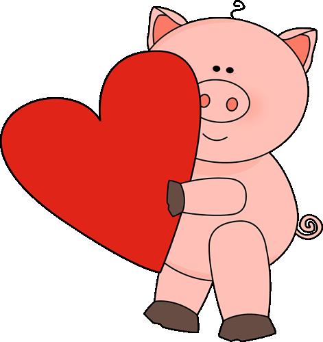 Valentine's Day Pig