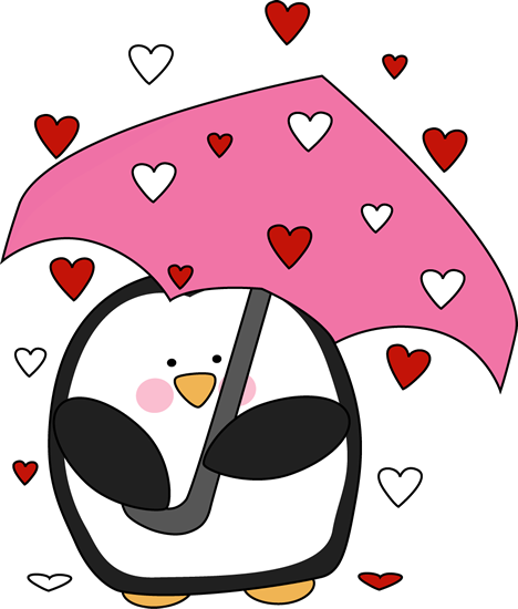 Raining Valentine's Day Hearts Clip Art - Raining ...