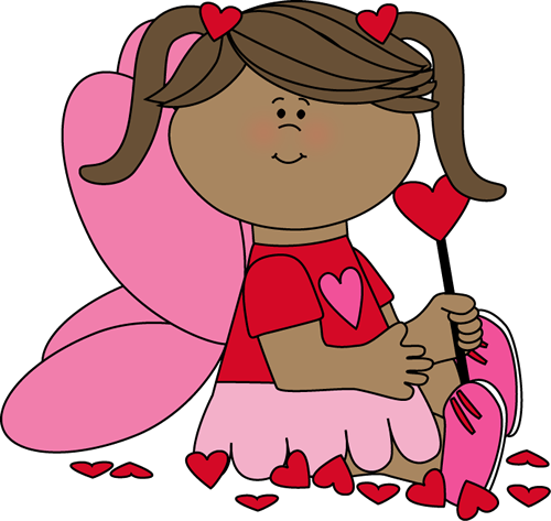 Valentine's Day Fairy with Hearts