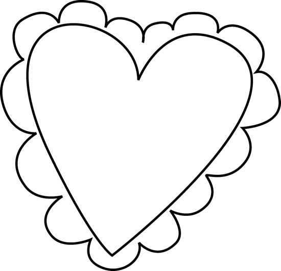 Black and White Valentine's Day Heart
