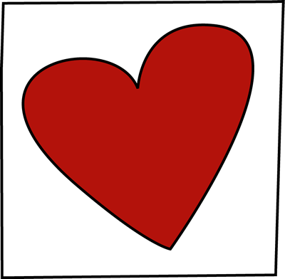 Valentine Heart Card Clip Art