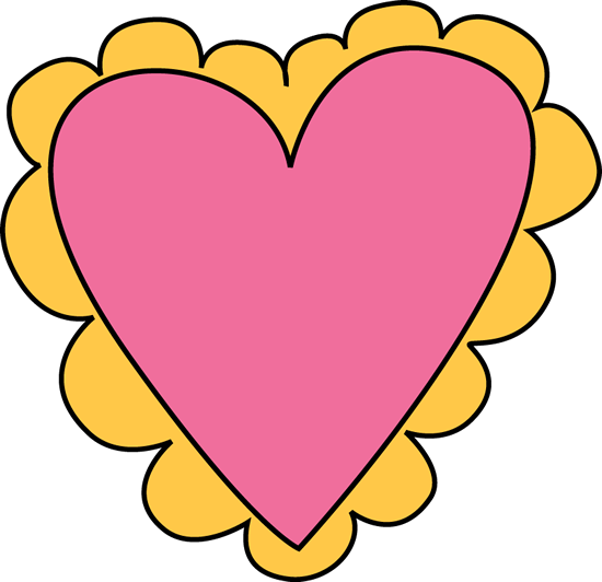 pink and yellow valentines day heart clip art pink and