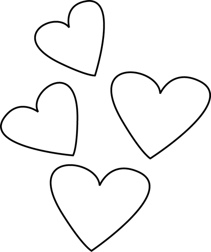 Black and White Valentine's Day Hearts
