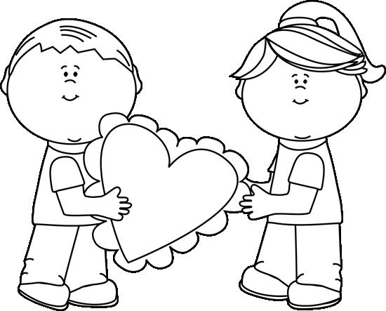 Black and White Valentine's Day Kids