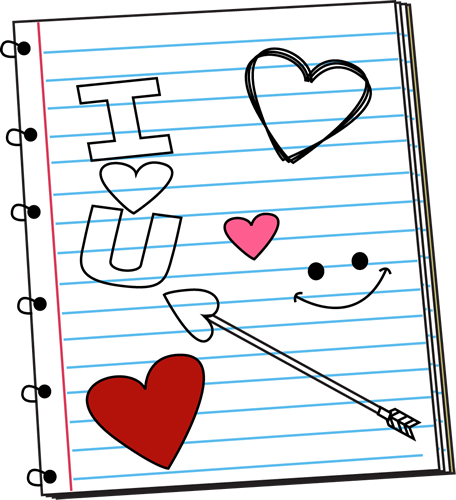Valentine's Day Notebook Scribbles