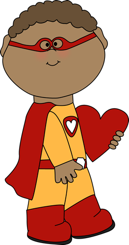 Valentine's Day Superhero Boy with a Heart