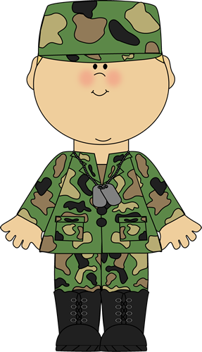 Boy In Army Uniform