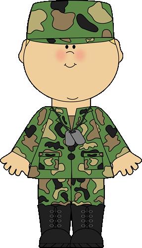 Boy In Army Uniform