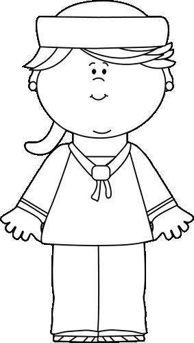 Black and White Girl Sailor