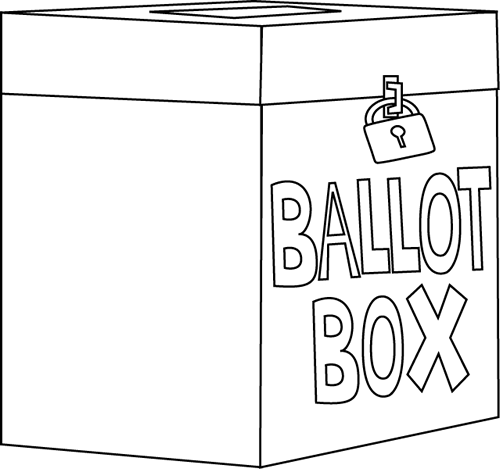 Black and White Ballot Box
