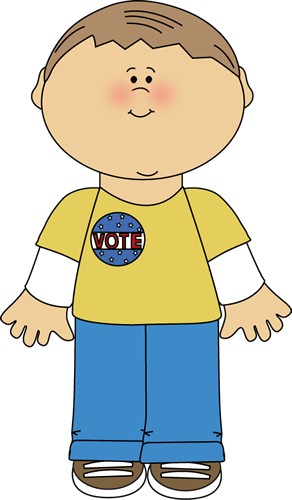 Boy Wearing a Vote Sticker