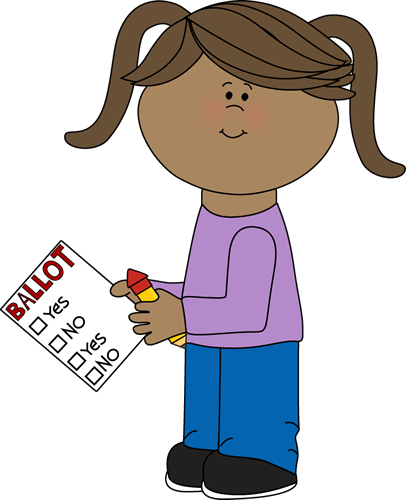 Girl With Voting Ballot