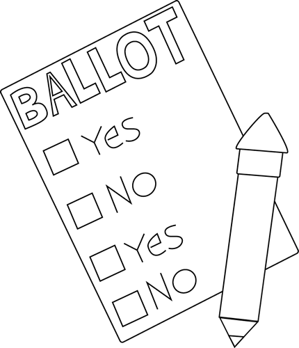 Black and White Ballot and Pencil
