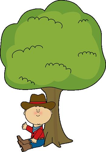 Cowboy Sitting Under a Tree