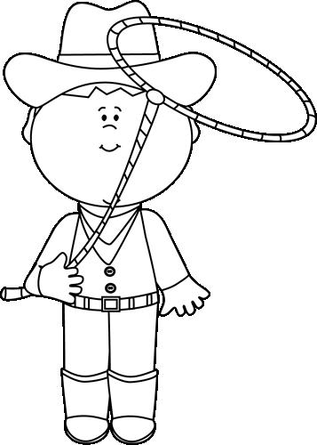 Black and White Cowboy...