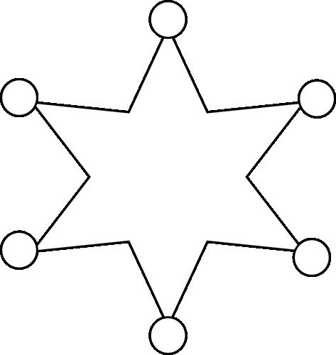 Black and White Sheriff Badge