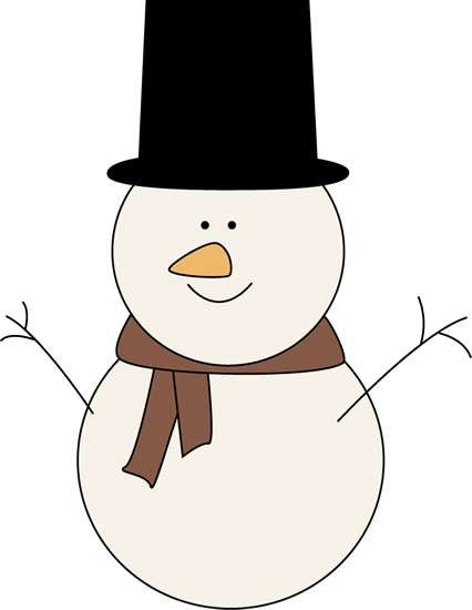 Classic Snowman Clip Art Image