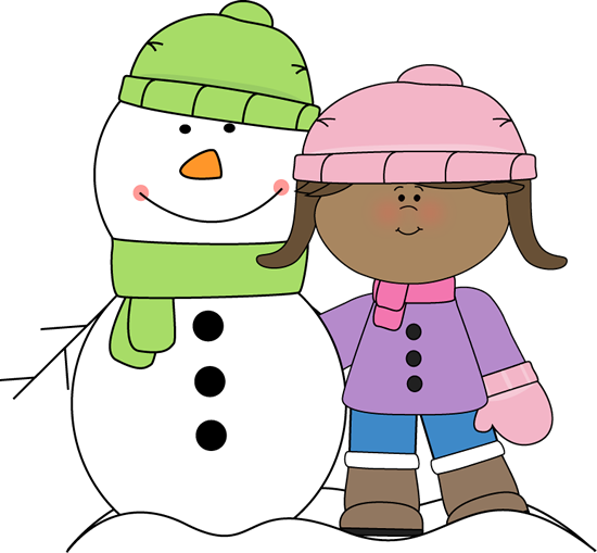 Clip Art Clip Art Winter winter clip art images girl with snowman
