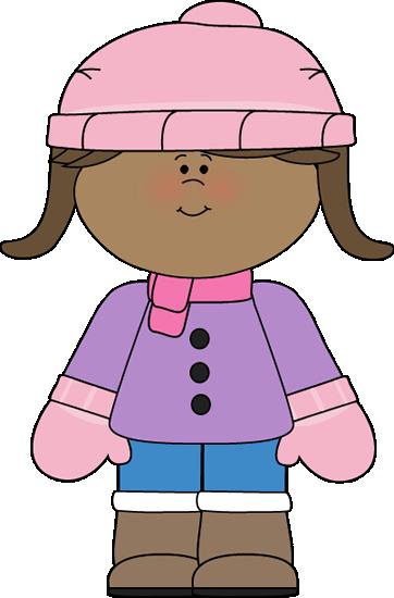 Clip Art Clipart Winter winter clip art images little girl dressed for winter