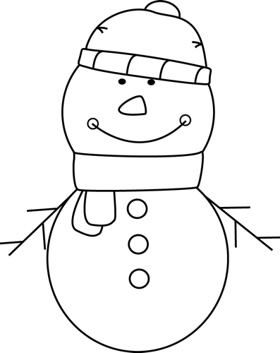 Snowman Image Black And White | New Calendar Template Site