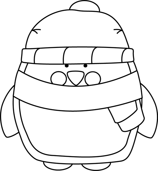 Penguin Reading Coloring Page